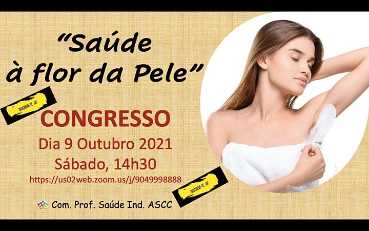 """imagem """"SAÚDE à Flor da Pele!"""" - CONGRESSO DE SAÚDE"""