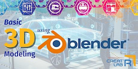 Basic 3D Modeling Using Blender tickets