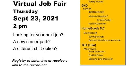 Virtual Job Fair tickets