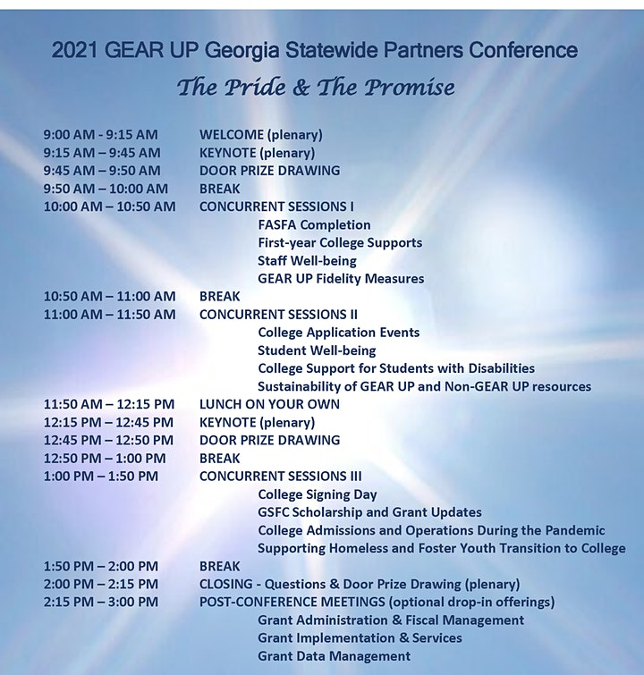 2021 GEAR UP Georgia  Statewide Partners Conference image