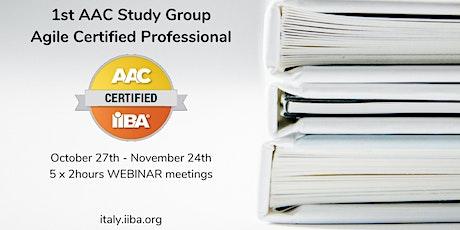 Gruppo di Studio (GdS) 2021 per la certificazioni IIBA Agile biglietti