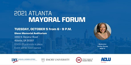 City of Atlanta Mayoral Candidate Forum 2021 tickets