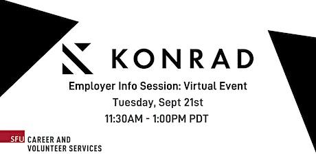 Konrad Information Session tickets