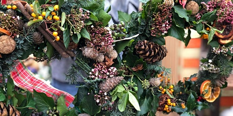 Christmas wreath making workshop. Includes Free prosecco and cake. tickets
