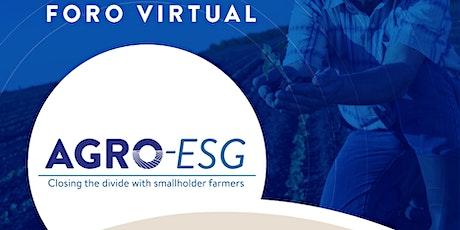 """AGRO-ESG """"Cerrando la brecha con los pequeños productores"""" boletos"""