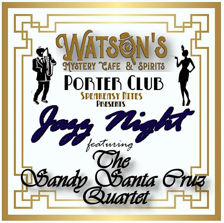 Speakeasy Night Featuring Jazz by the Sandy Santa Cruz Quartet image