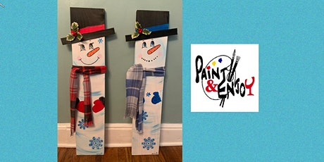 """Paint and Enjoy at Benigna's Winery """"3 foot Snowman"""" on Wood tickets"""