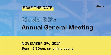 Music BC Annual General Meeting (Online) tickets