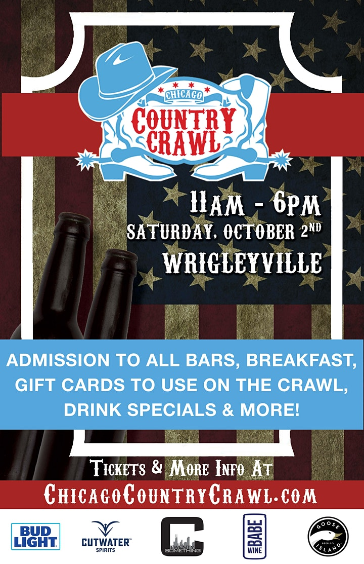 Chicago Country Crawl - Country Themed Bar Crawl in Wrigleyville image