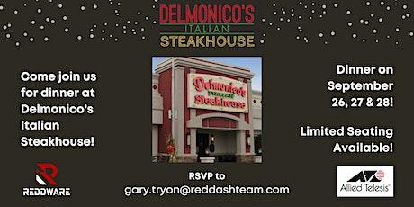 Delmonico Italian Steakhouse Dinner with ReddWare tickets