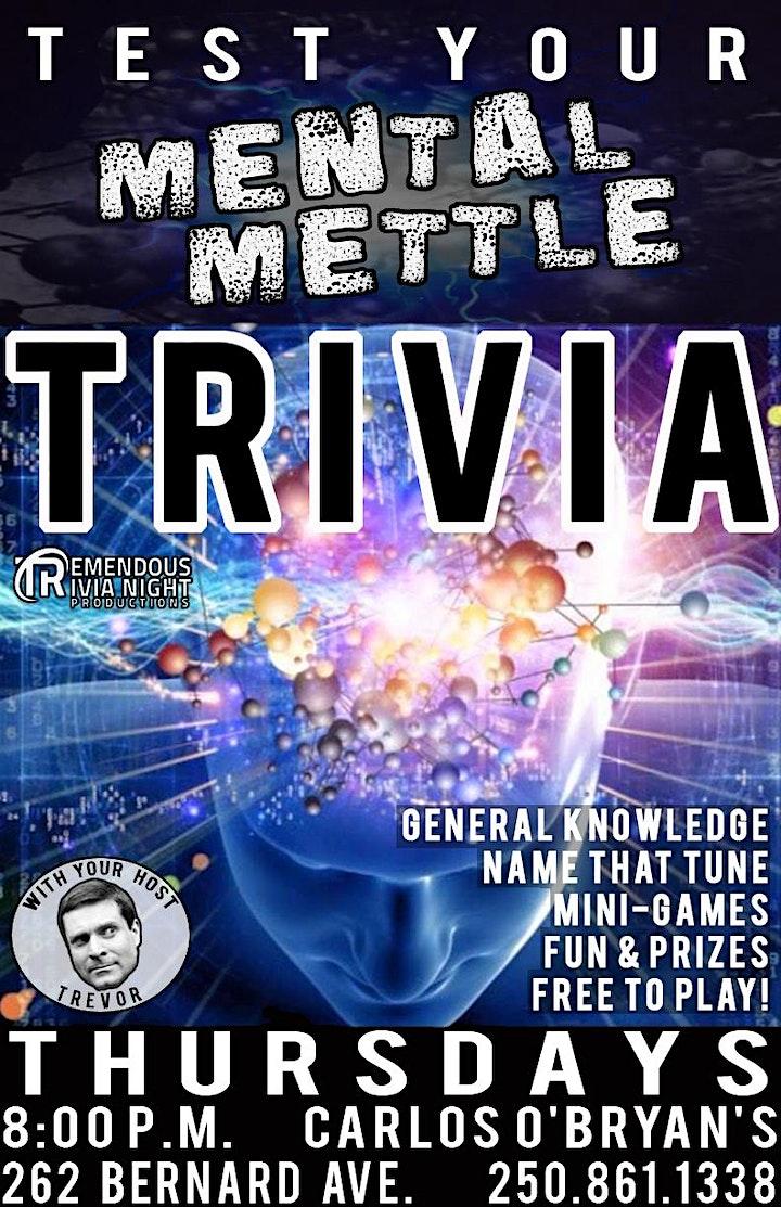 Thursday Night Trivia at Kelly/Carlos O'Bryan's Kelowna! image