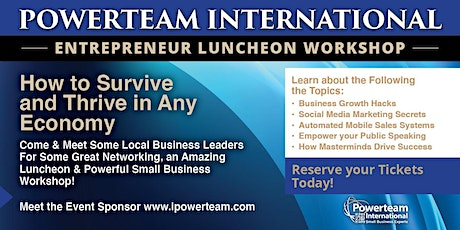 Entrepreneur Luncheon and Workshop New York tickets