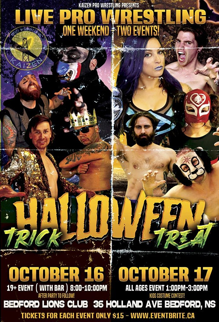 Kaizen Pro Wrestling - ALL AGES SHOW - Halloween TREAT image