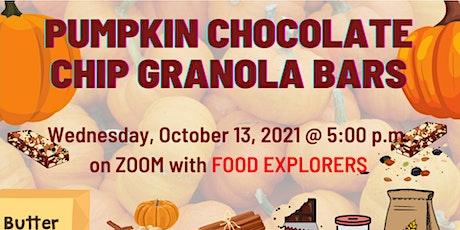 Virtual Food Explorers: Pumpkin Chocolate Chip Granola Bars tickets