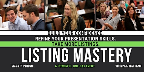 Listing Mastery LIVE Event tickets