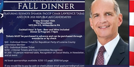 Republican Party of Luzerne County Fall Dinner tickets