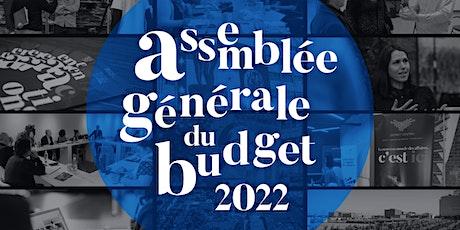 Assemblée générale du budget 2022 tickets
