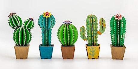 Paint and Sip workshop.  Create A Cactus 3D Art Workshop tickets
