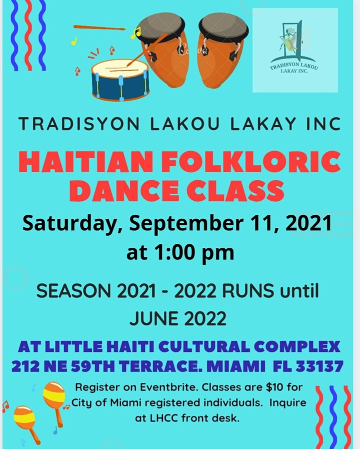 Haitian Folkloric Dance Class   Season 2021-2022 image