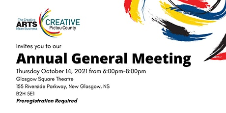 Creative Pictou County 2021 Annual General Meeting tickets