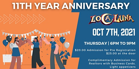 Real Estate Connections' 11th YEAR ANNIVERSARY on OCT 7, 2021 tickets