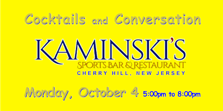 No Cover ~ Kaminski's ~ Cherry Hill NJ ~ Happy Hour ~ ticket required tickets