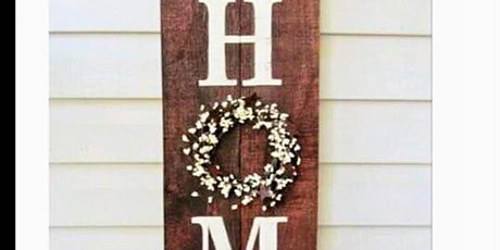 """Tipsy Glass Painting Class- Porch """"Home"""" sign tickets"""