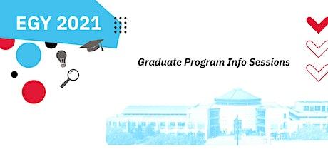 Experience Grad York - Fall 2021 (Program Sessions) tickets
