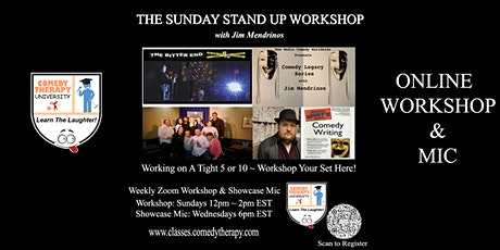Sunday Stand Up Workshop with Jim Mendrinos - Sept 26th tickets