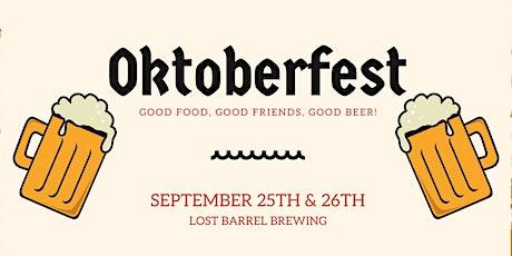 Oktoberfest at Lost Barrel Brewing tickets