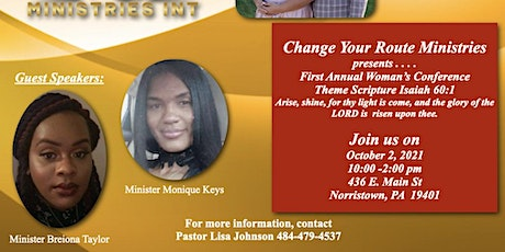 Change Your Route Ministries 1st Annual Woman's Conference tickets