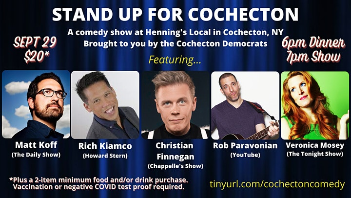 Stand Up for Cochecton! - A Comedy Show Fundraiser for Cochecton Democrats image
