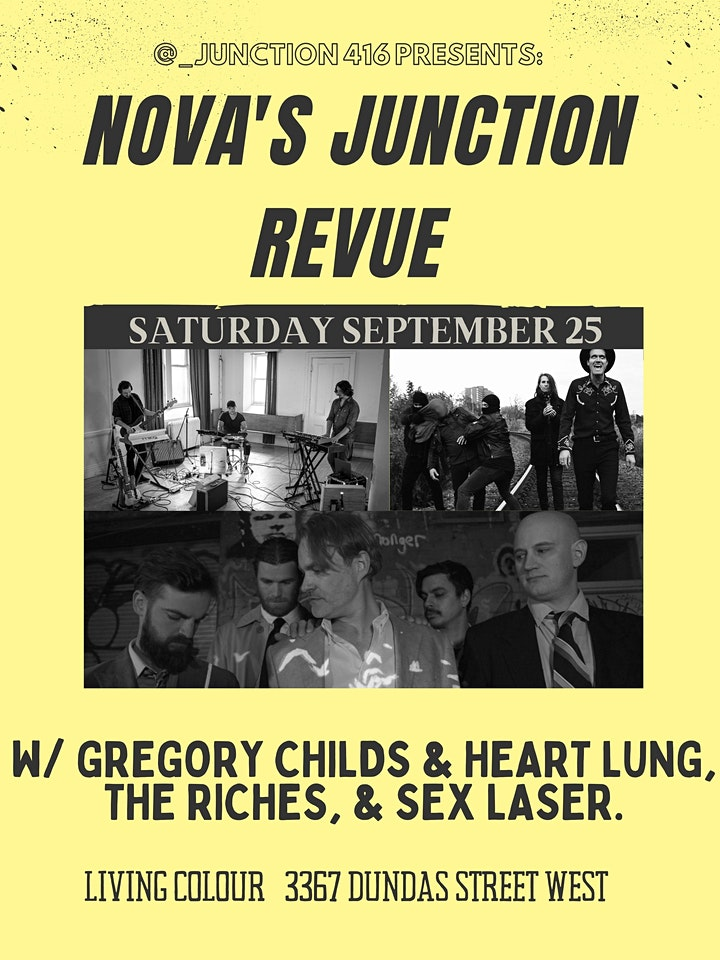 NOVA'S JUNCTION REVUE w/GREGORY CHILDS & HEART LUNG THE RICHES & SEX LASER image