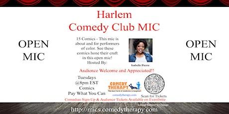 Harlem Comedy Club Mic - Sep 28th tickets