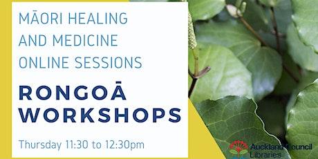 Online Rongoā Workshops - Traditional Māori Healing tickets