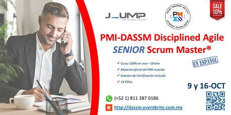 DASSM® Disciplined Agile SENIOR Scrum Master - Curso Oficial del PMI boletos