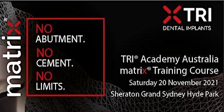 Sydney | TRI® Academy Australia | matrix® Training Course tickets