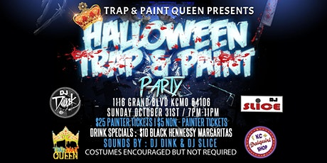 Halloween Trap and Paint tickets