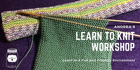 Knit your own Face flannel/ kitchen cloth workshop with Andrea tickets