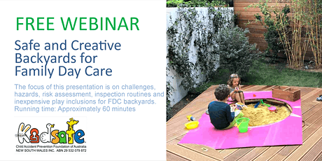 Safe and Creative Backyards for Family Day Care tickets