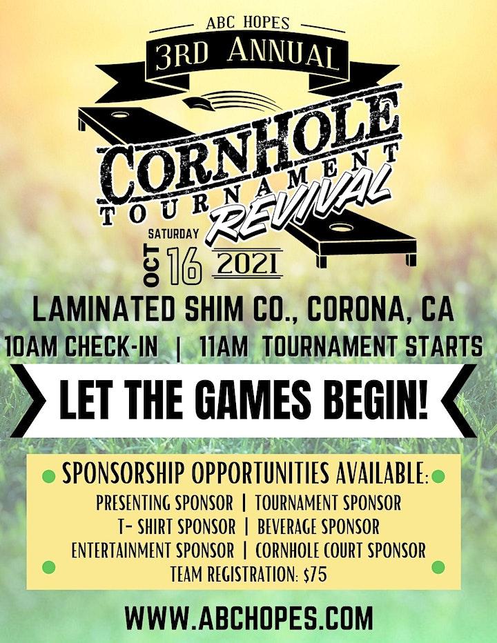 ABC Hopes Annual CornHole Tournament 2021 image
