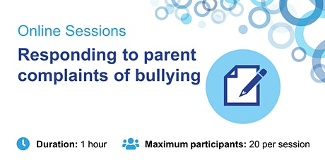 Responding to parent complaints of bullying tickets