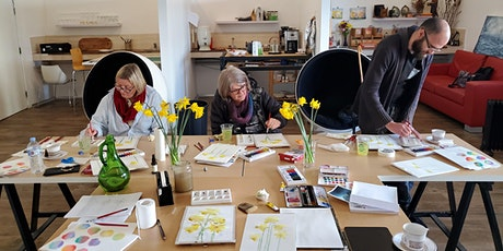Loose Spring Botanical Watercolour Workshop with PollyannaR tickets