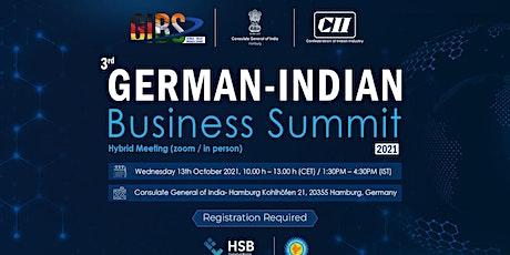 GERMAN- INDIAN BUSINESS SUMMIT - 2021 tickets