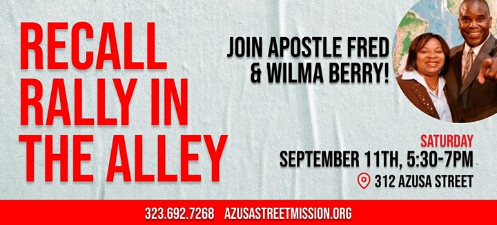 """Recall """"Rally in the Alley """" 312 Azusa Street image"""