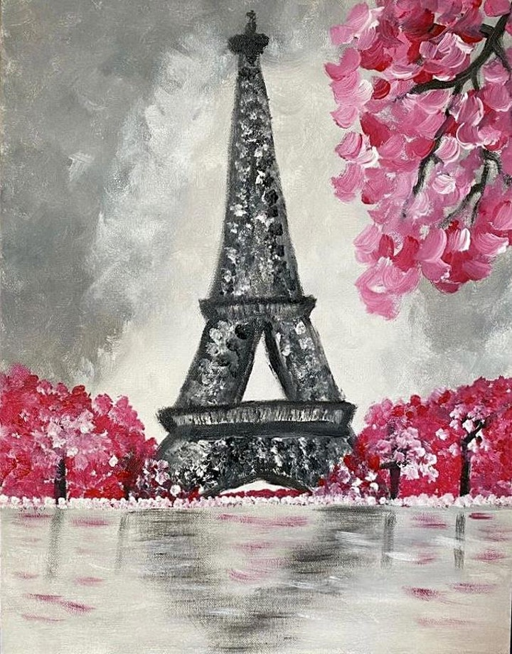 ONLINE Paint Along @ Home -- Eiffeltower image