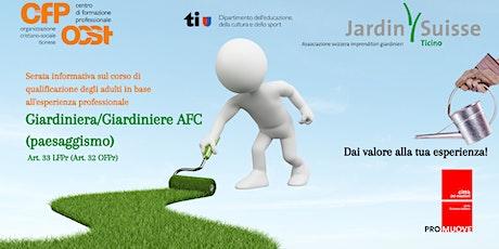 Giardiniera/ Giardiniere AFC (paesaggismo)-Art. 33 LFPr (Art. 32 OFPr) biglietti