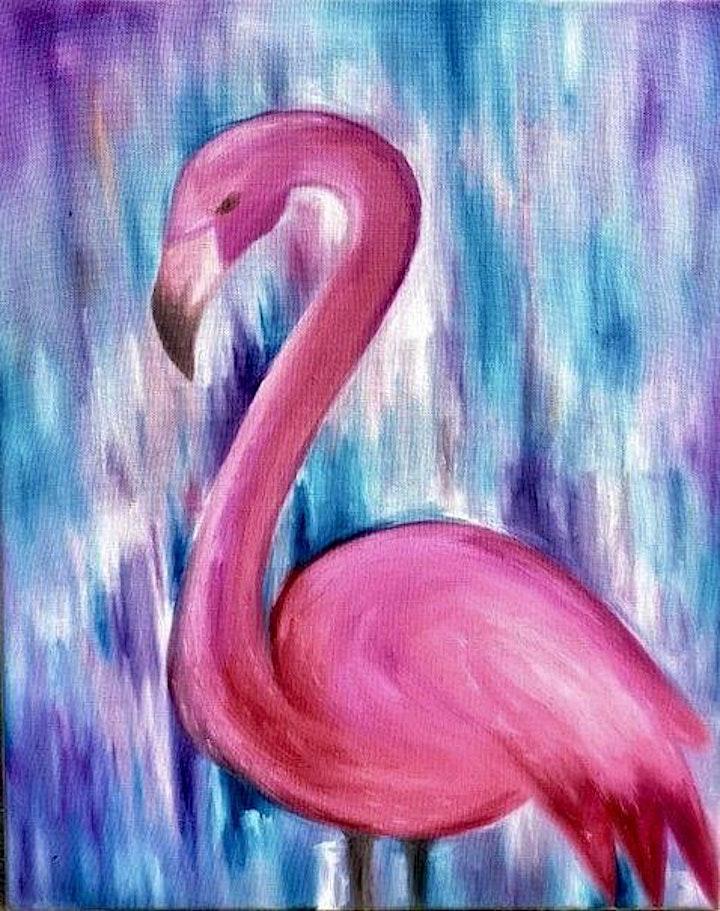 ONLINE Paint Along @ Home -- Pink Flamingo image