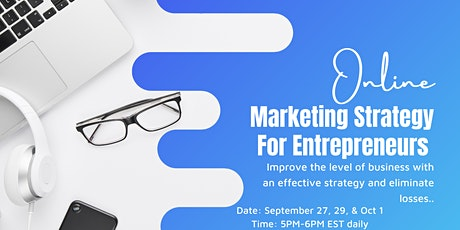 Marketing Strategy For Entrepreneurs Class tickets