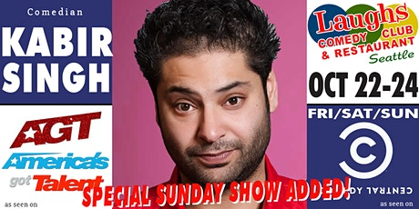 Comedian Kabir Singh from AGT 2021 tickets